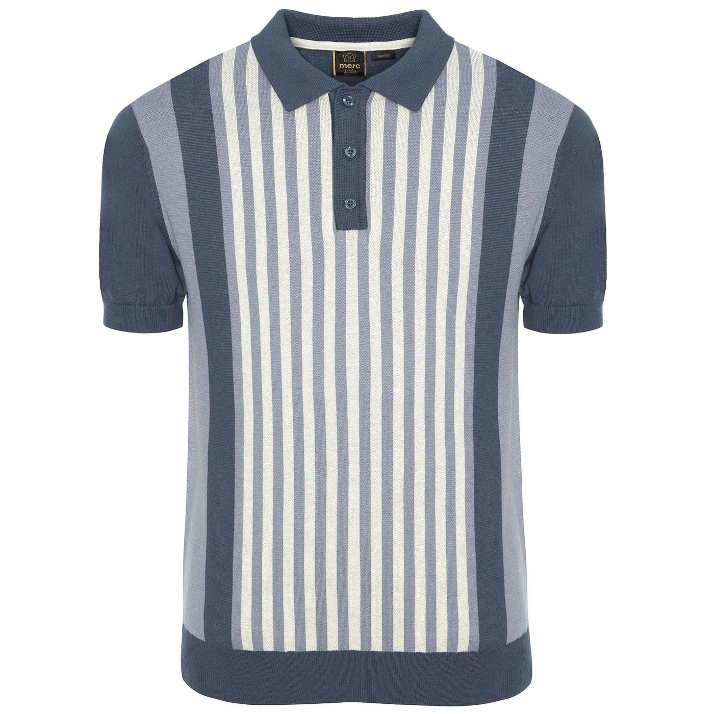 Northbrook MERC Retro 60s Mod Knitted Polo Shirt S