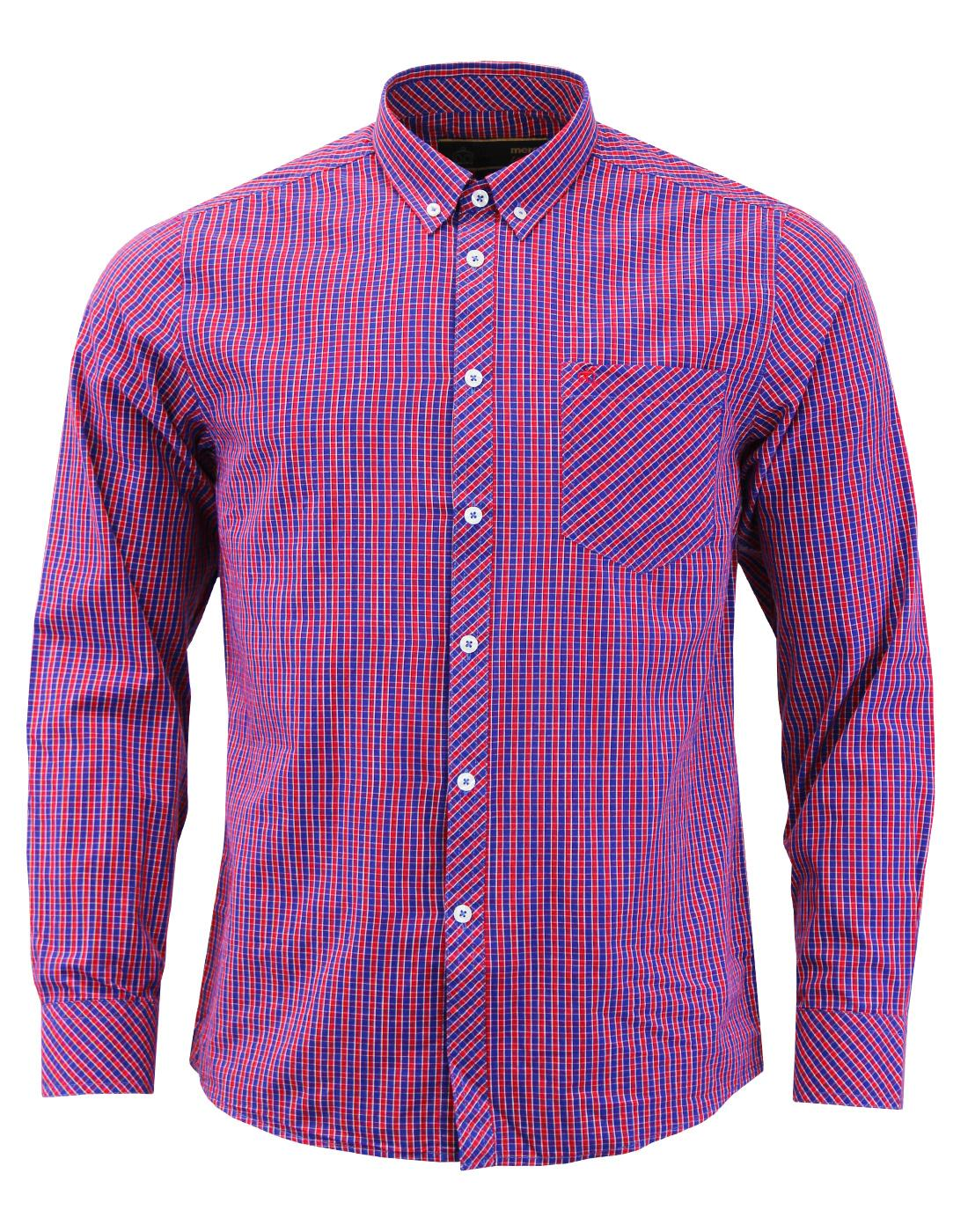 Reigate MERC 60s Mod Small Check Button Down Shirt