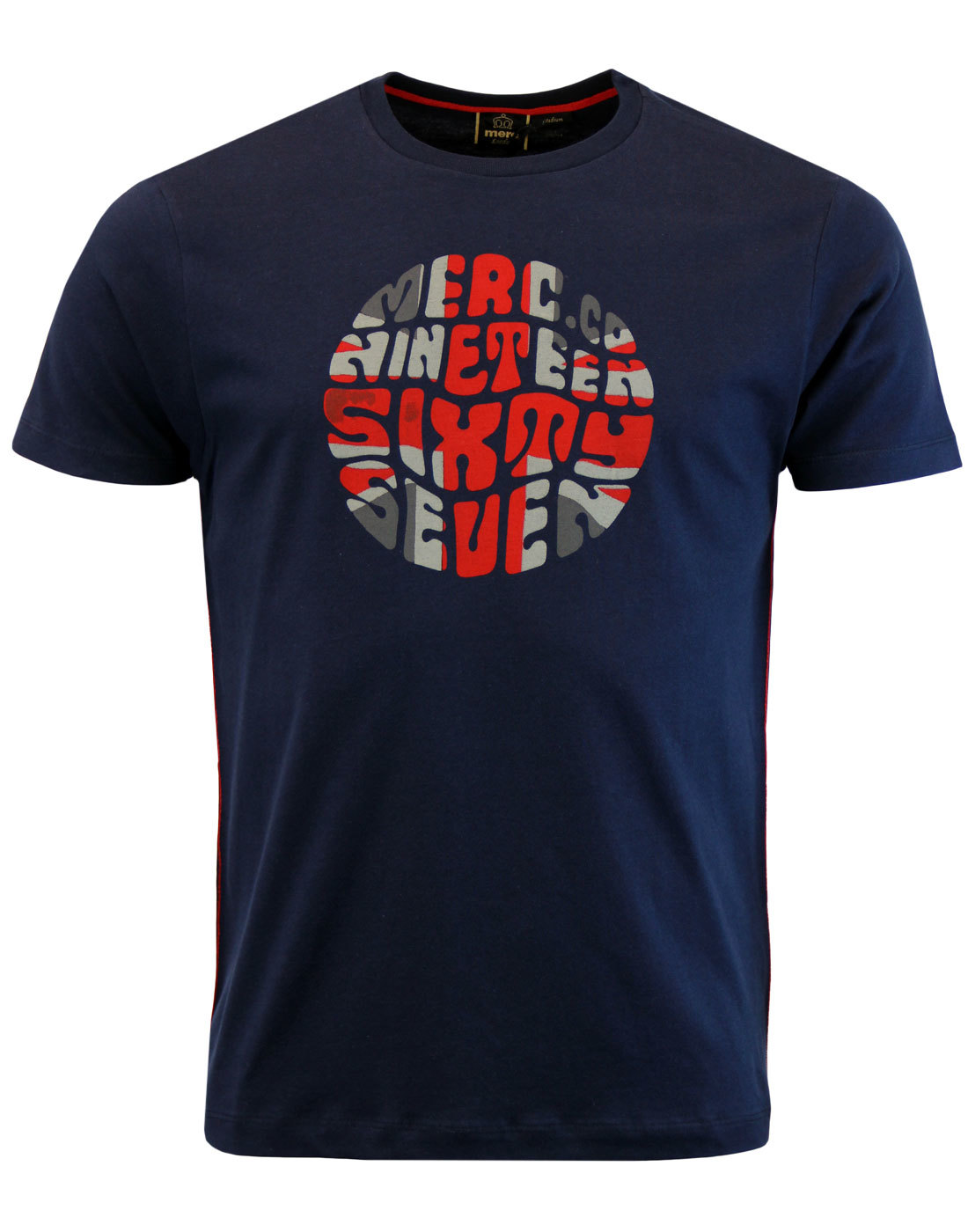 Saxby MERC Retro 1960s Mod Union Jack Pop Art Tee