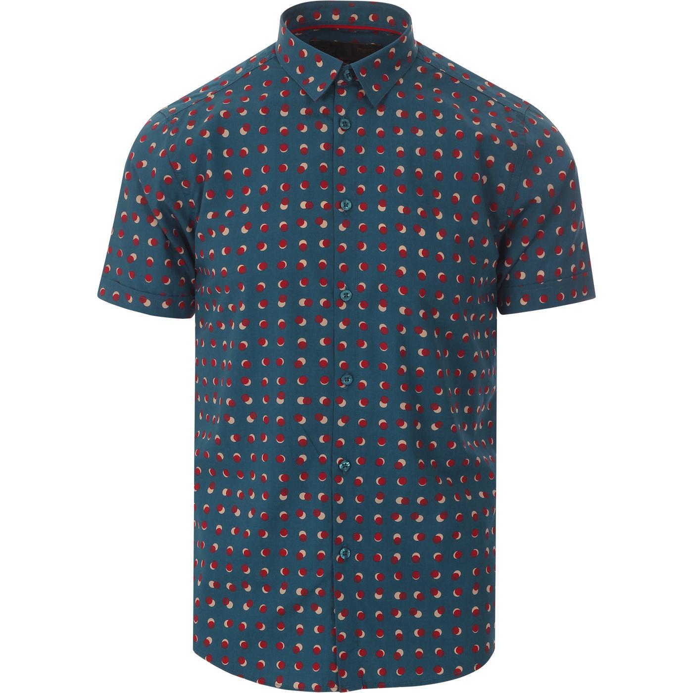 Shelley MERC 60s Mod SS Optic Polka Dot Shirt (BB)
