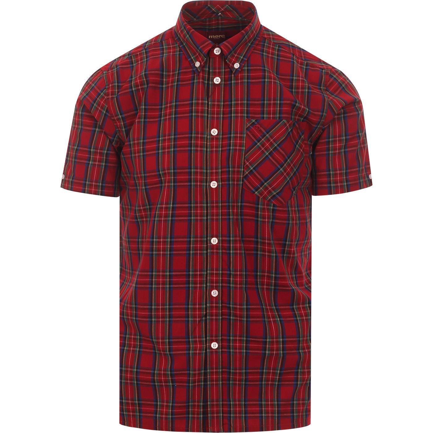 Mack MERC Mod Button Down Stewart Red Check Shirt