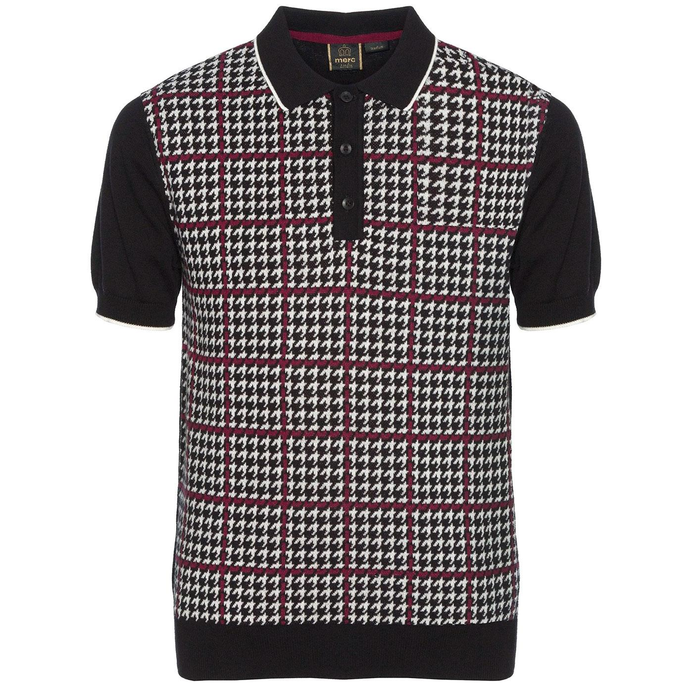 Tophill MERC Retro Mod Prince of Wales Knit Polo