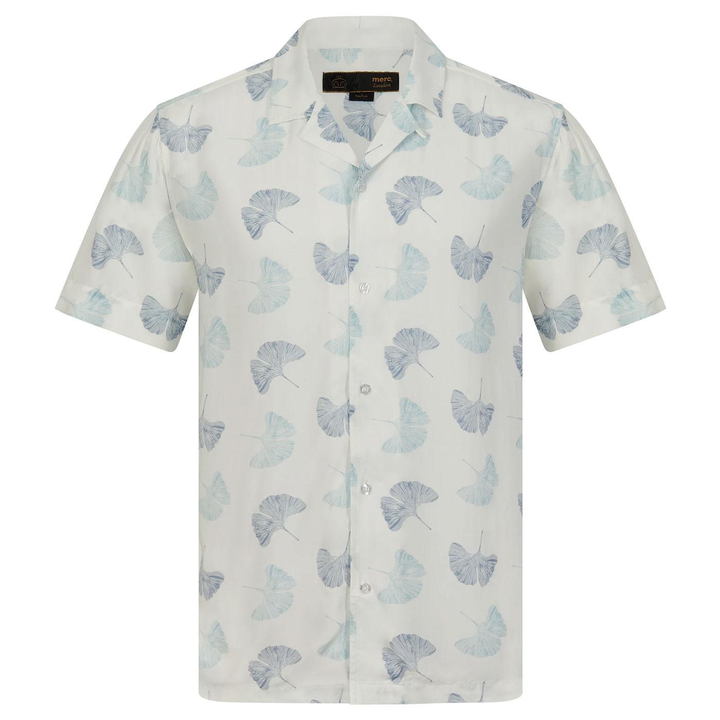 Watkins MERC Retro leaf print cuban Collar Shirt W