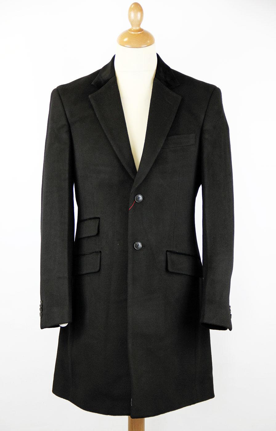 Lord John II MERC Retro Tailored Mod Overcoat (B)