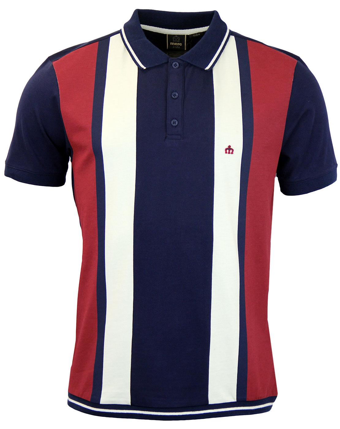 Deerfield MERC Retro 60s Mod Block Panel Polo (N)