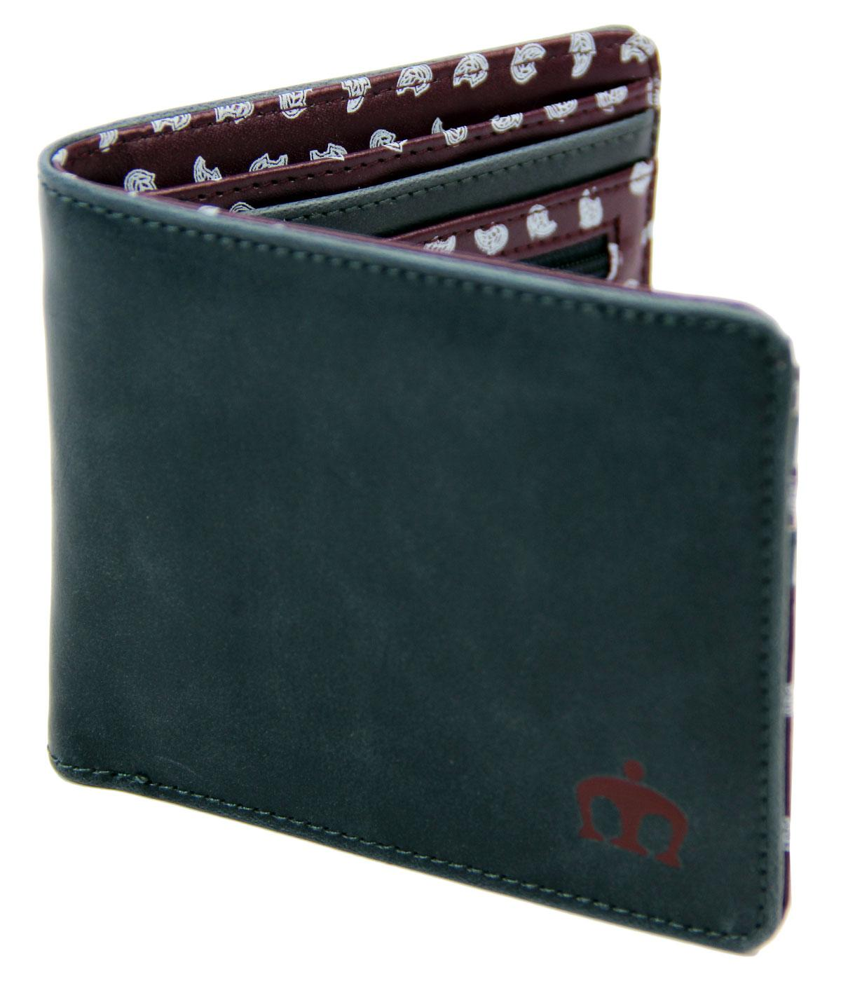Rickard MERC Retro Mod Paisley PU Leather Wallet