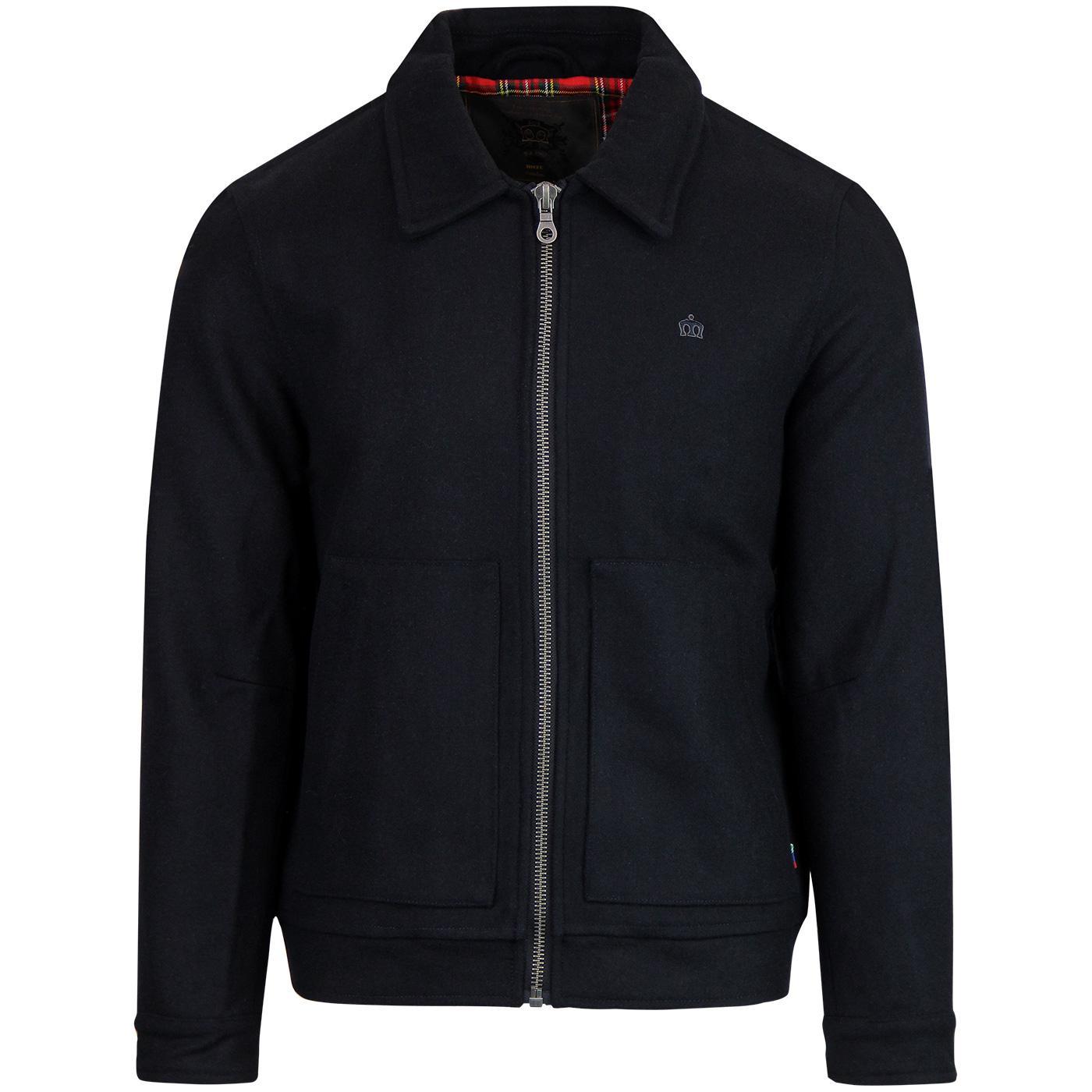 Ladbroke MERC Retro Mod Wool Jacket Dark Navy