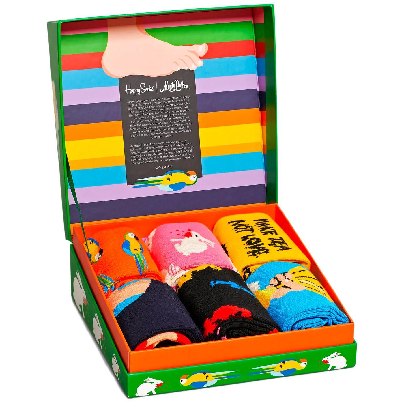 + HAPPY SOCKS x MONTY PYTHON 6 Pack Sock Gift Set