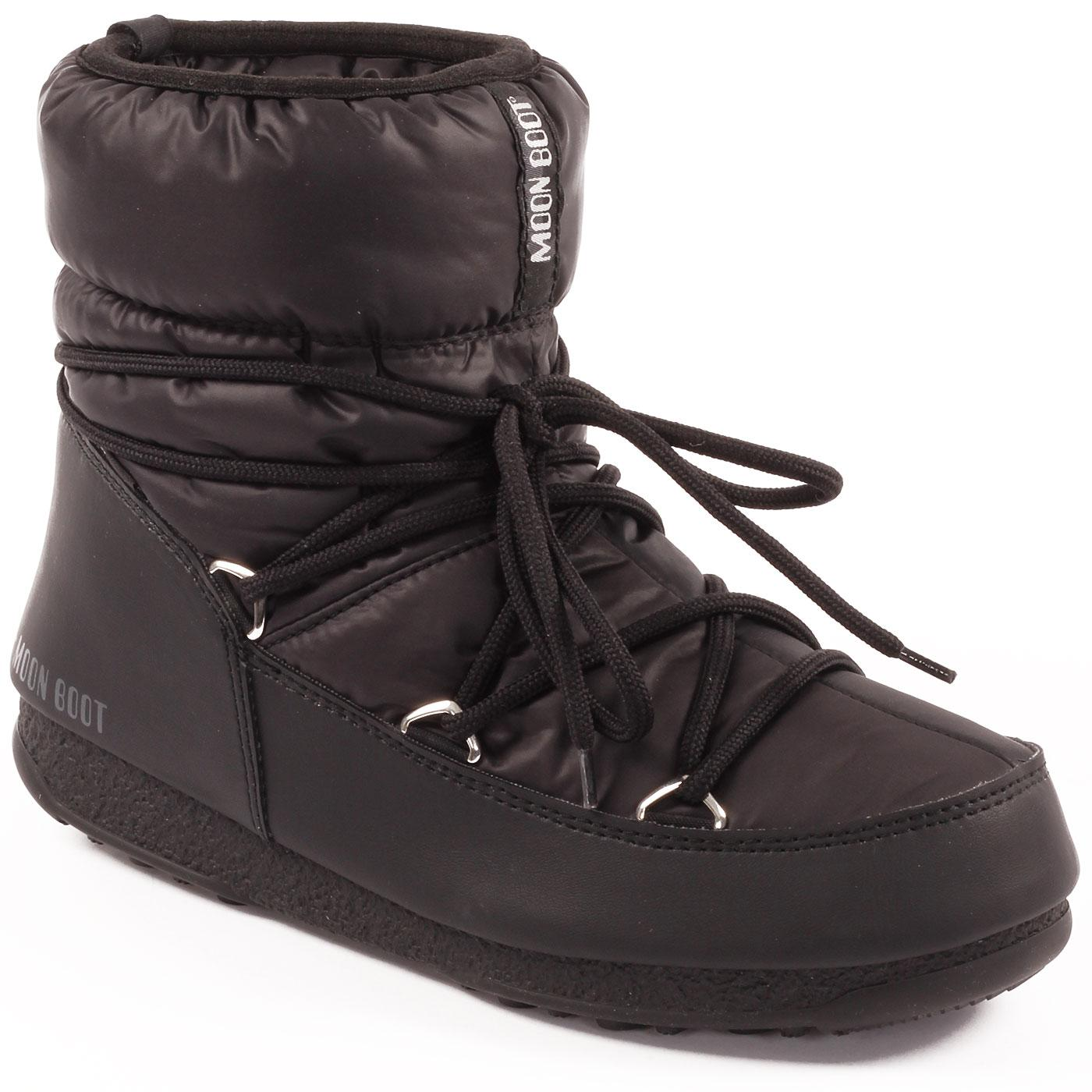 MOON BOOT Low Nylon WP Retro 70s Snow Boots -Black