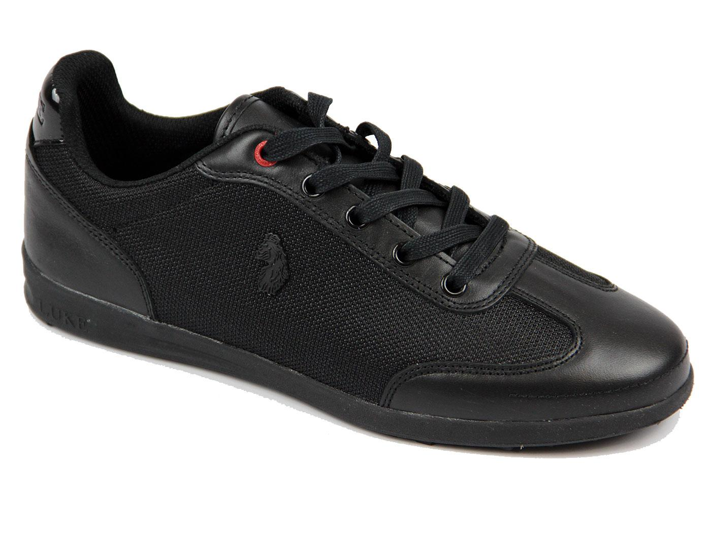 Move On LUKE 1977 Low Profile Dress Trainers BLACK