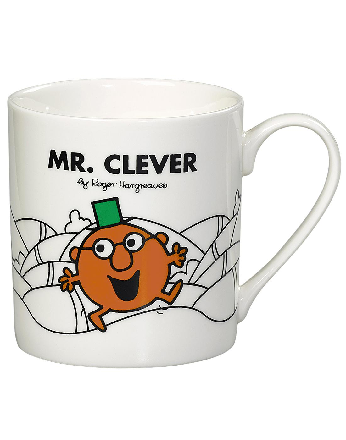 Mr. Clever MR MEN & LITTLE MISS Retro Mug in White