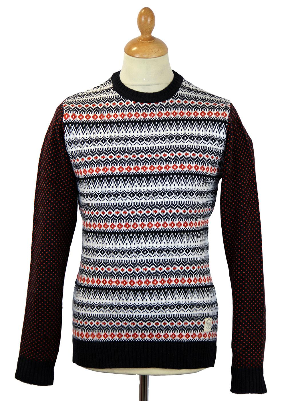 NATIVE YOUTH Retro 70s Indie Fairisle Knit Jumper