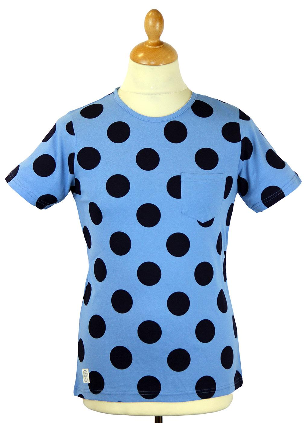 NATIVE YOUTH Oversize Polka Dot Retro Mod T-Shirt