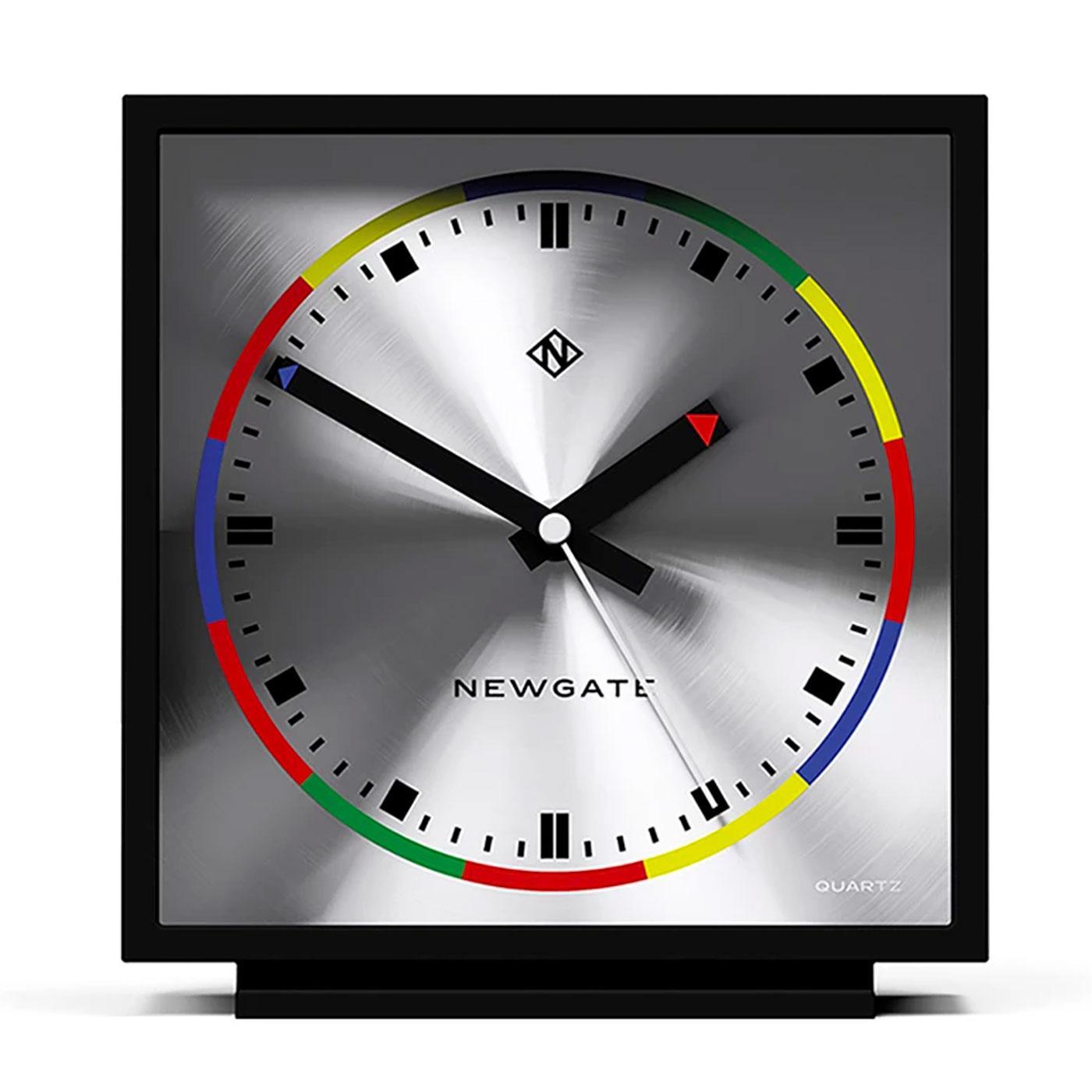 AMP NEWGATE Retro 60s Space Age Mantel Clock BLACK