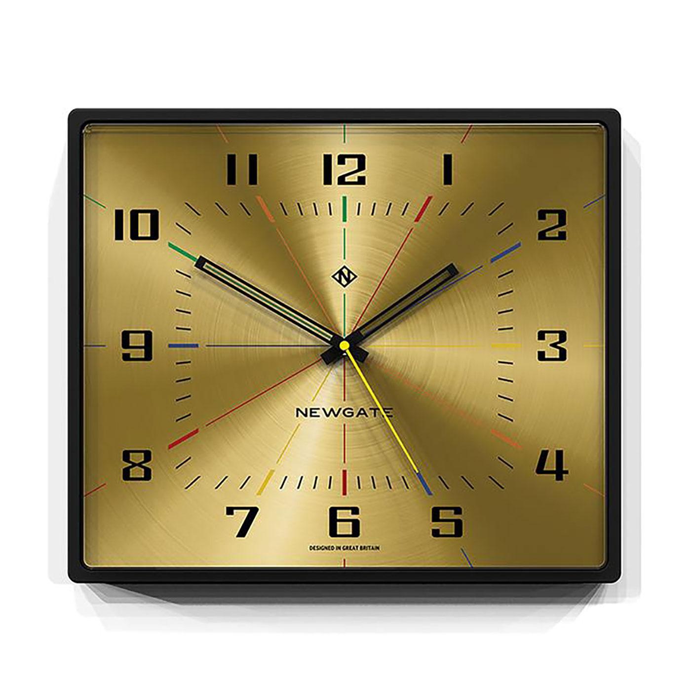 Box Office NEWGATE CLOCKS 60's Square Wall Clock