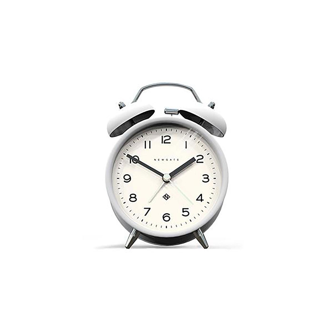 Echo NEWGATE CLOCKS Retro Bell Alarm Clock (W)