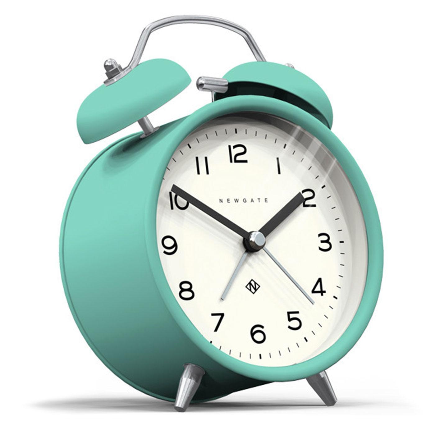 Echo NEWGATE CLOCKS Retro Bell Alarm Clock in Aqua