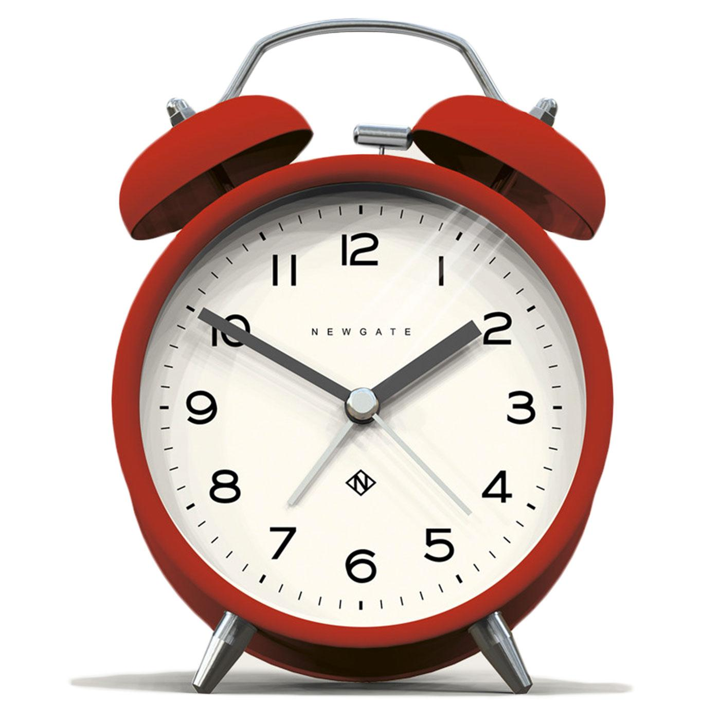 Echo NEWGATE CLOCKS Retro Bell Alarm Clock in Red