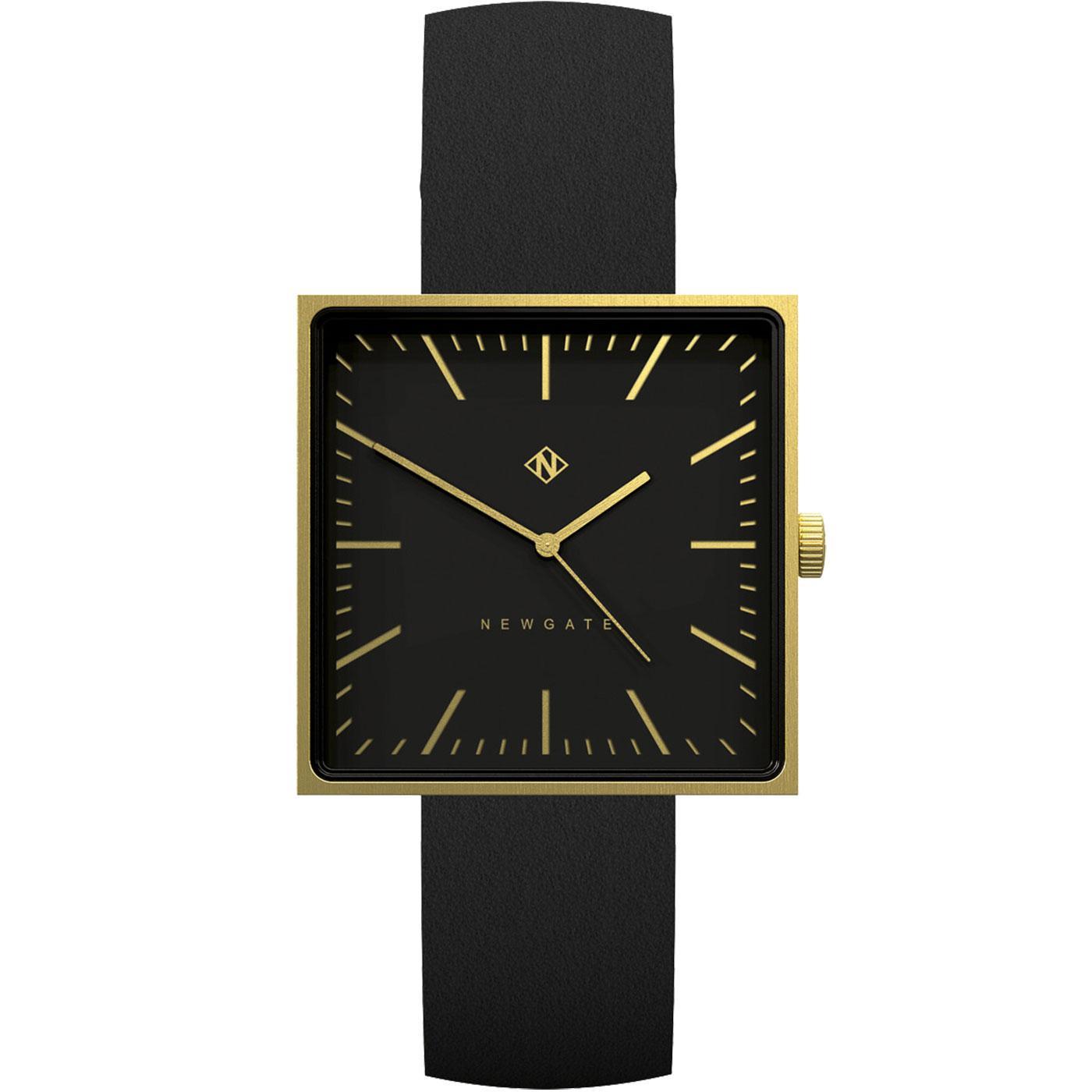 The Cubeline NEWGATE CLOCKS Retro Watch Black