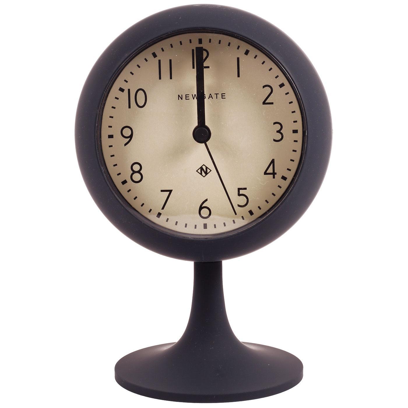 NEWGATE Retro Dome Alarm Clock Petrol w/Cream Dial
