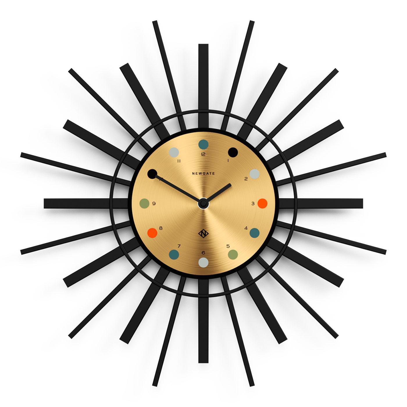 Stingray NEWGATE CLOCKS Retro Atomic Wall Clock G