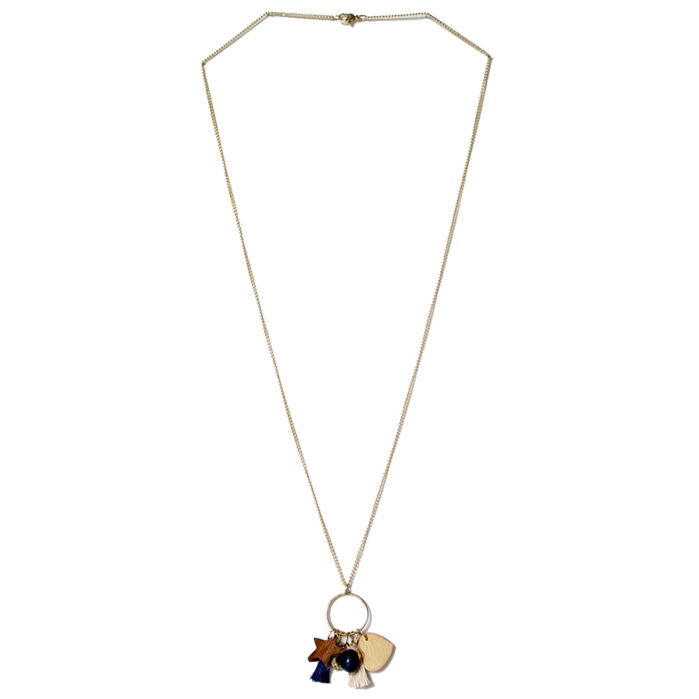 Charm NOMADS Retro Wooden Charm Necklace