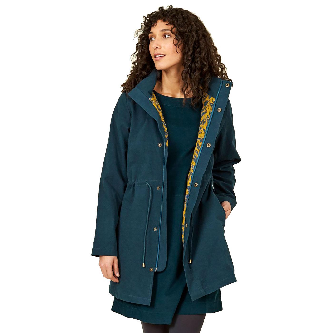 NOMADS Organic Retro Printed Lining Hooded Coat