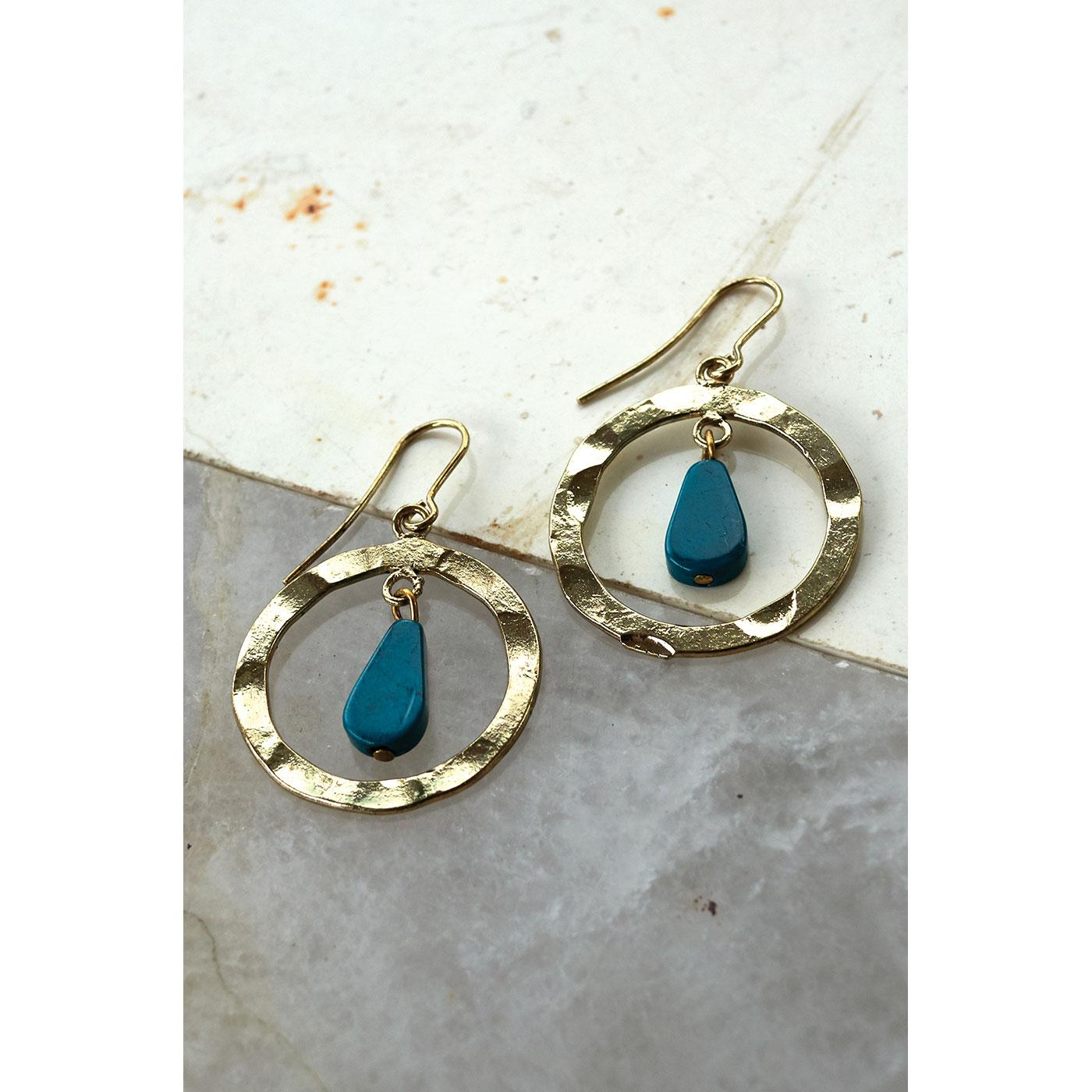 + NOMADS Fair Trade Ishana Circle Drop Earrings
