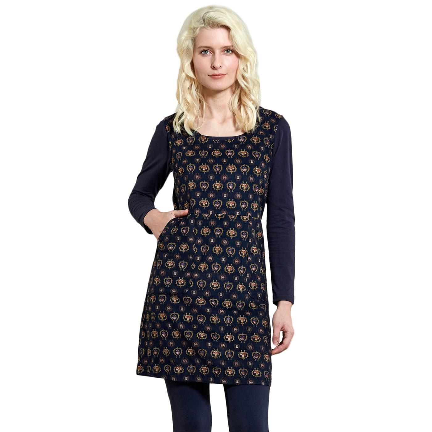 Pinafore NOMADS Retro Patterned Tunic Dress Navy
