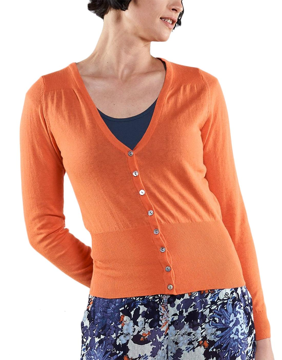 NOMADS Retro 50s Style Fitted Cardigan in Mango