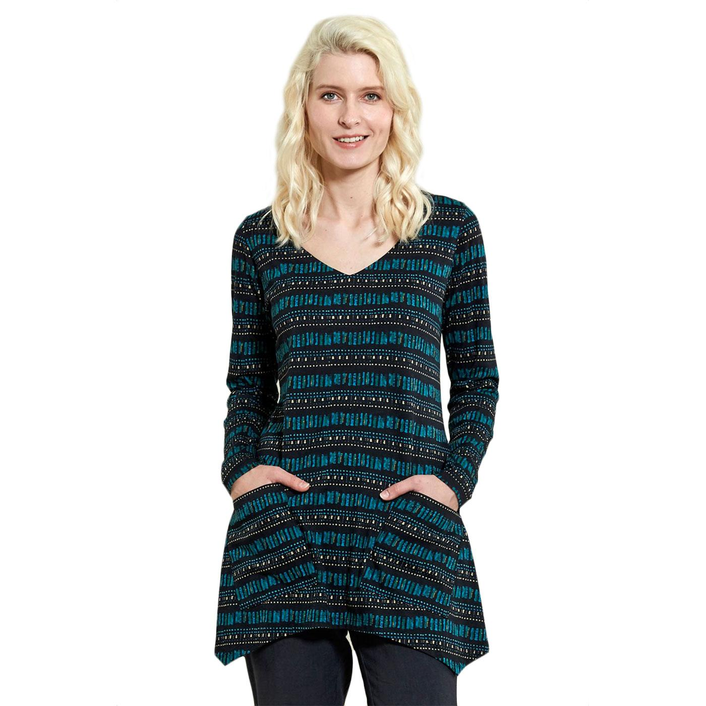Hem NOMADS Vintage Patterned Tunic In Pacific