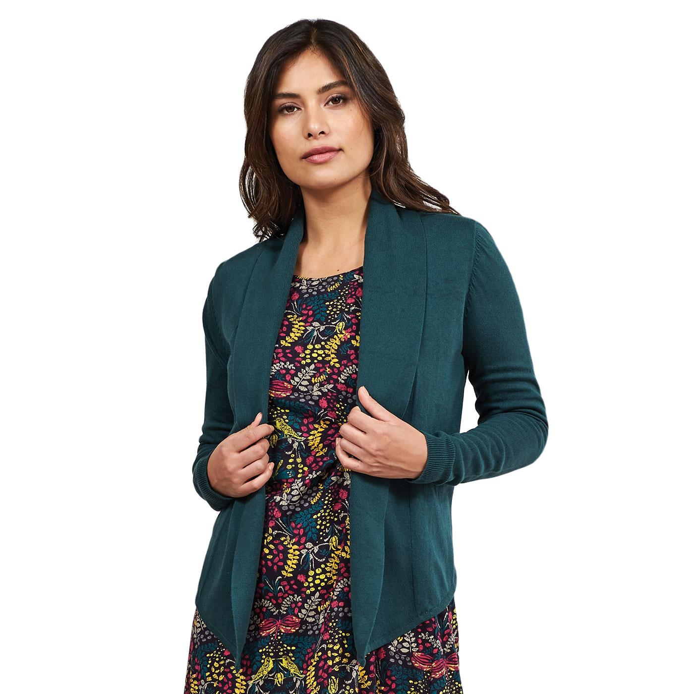 NOMADS Cosy Shawl Collar Fair Trade Knit Cardigan