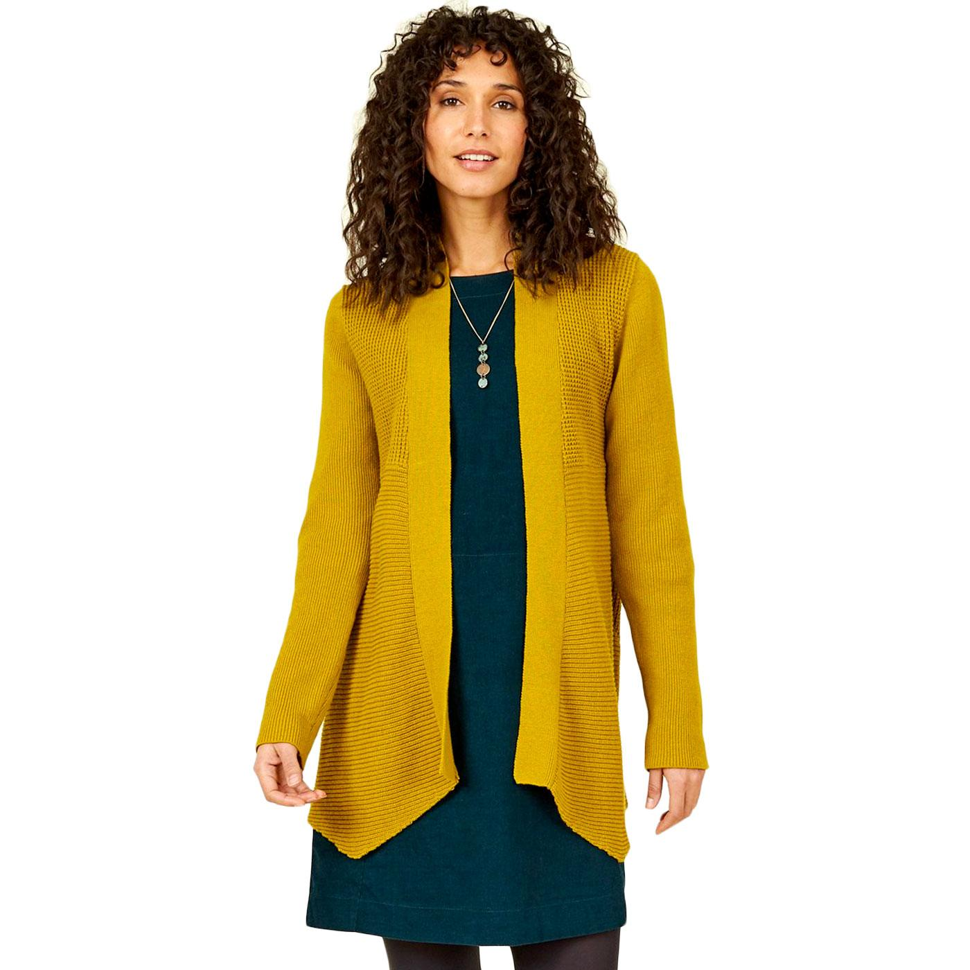 NOMADS Merino Wool Waterfall Cardigan (Citron)