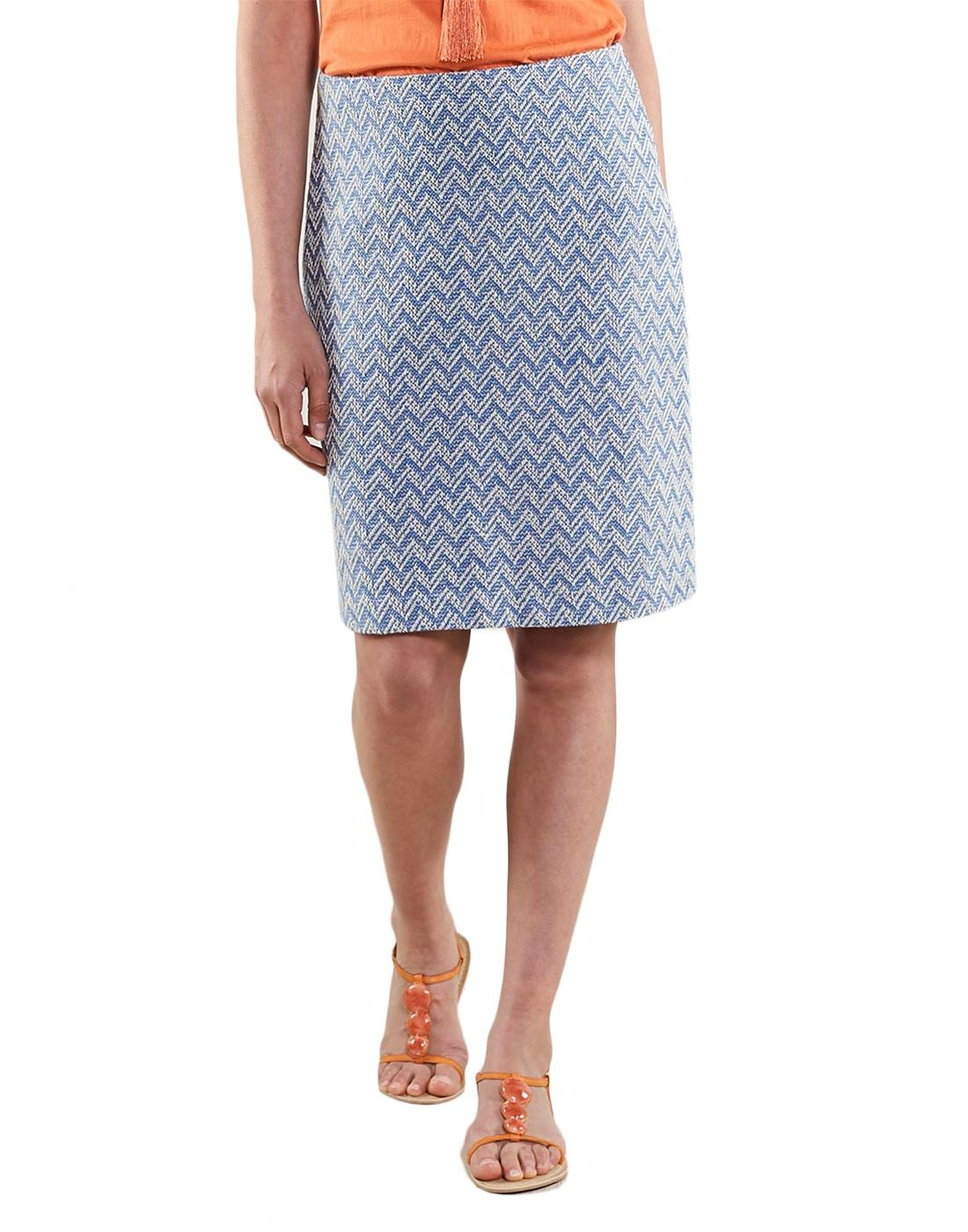 NOMADS Retro 1970s Handloom Tailored Pencil Skirt