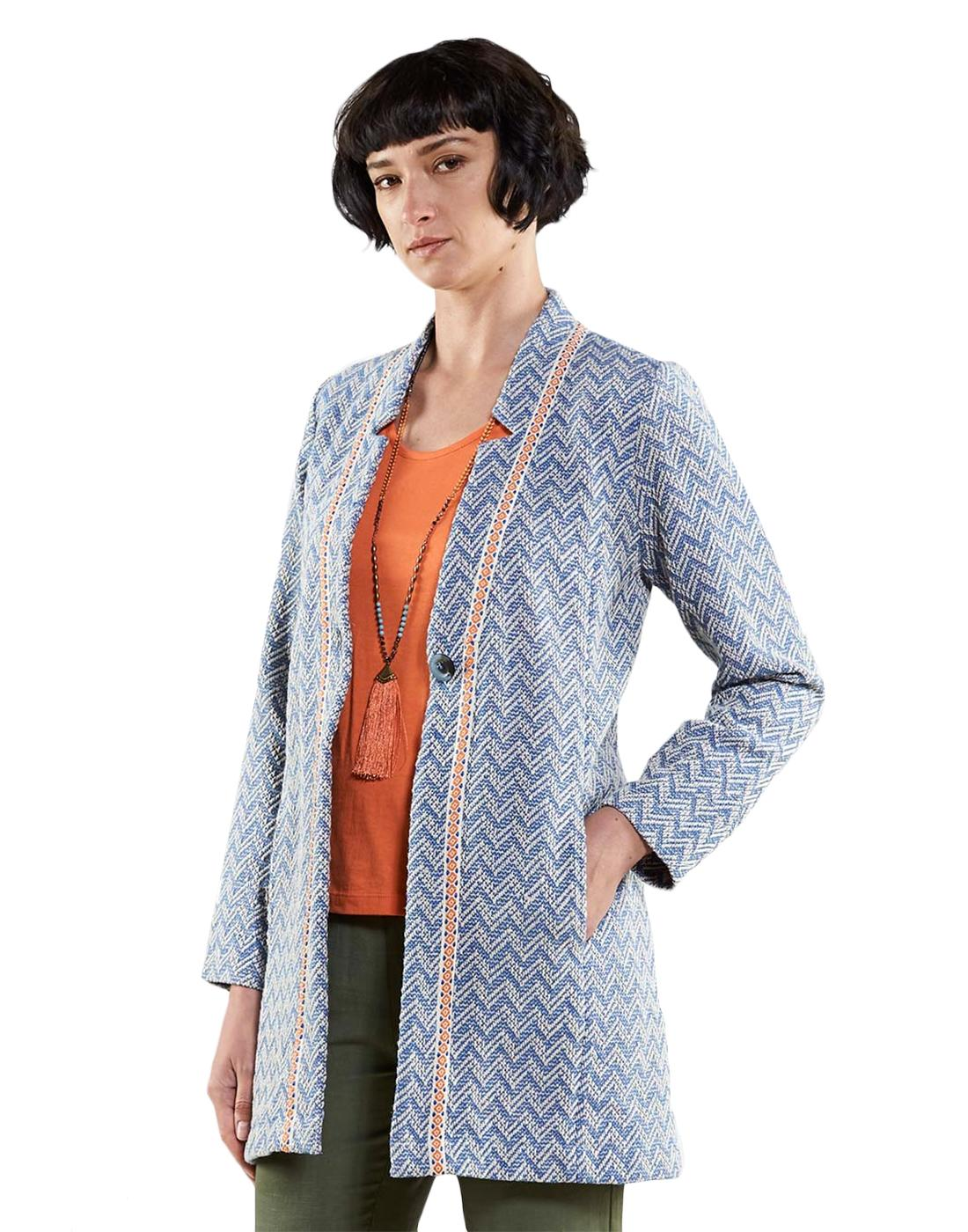 NOMADS Retro 1970's Handloom Woven Summer Jacket
