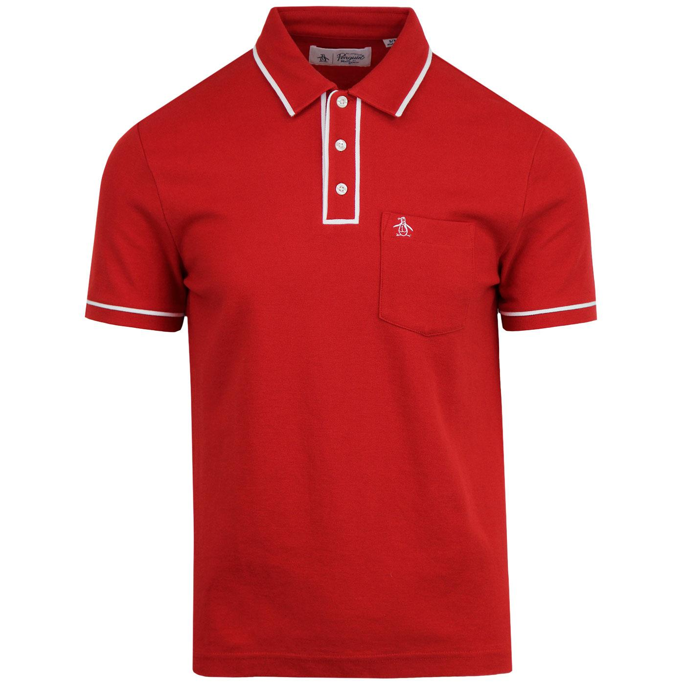 Earl ORIGINAL PENGUIN Retro Mod Tipped Polo Top SR