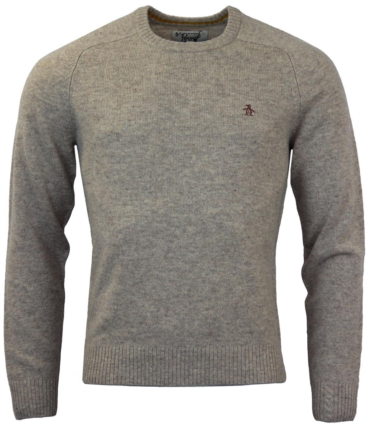 ORIGINAL PENGUIN P55 Retro Raglan Knit Sweater in Silver