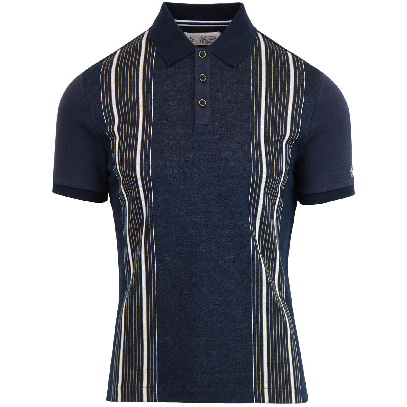 ORIGINAL PENGUIN 60s Mod Multi Stripe Polo Shirt