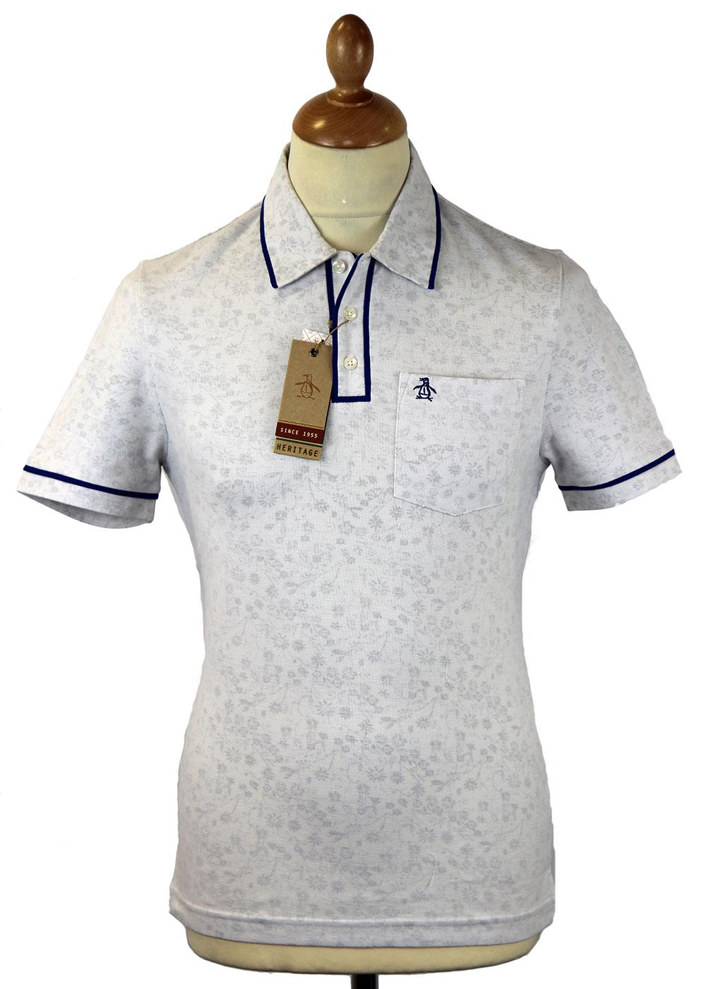 Floral Earl ORIGINAL PENGUIN Retro Mod Polo Top DB