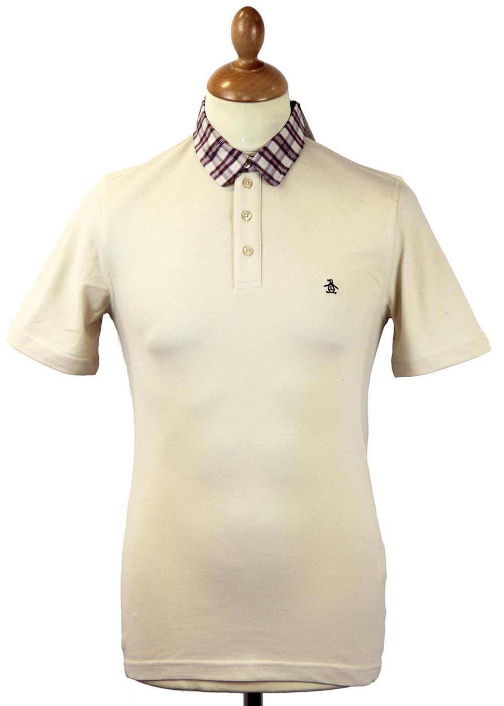 Bering Original Penguin Check Collar Retro Polo