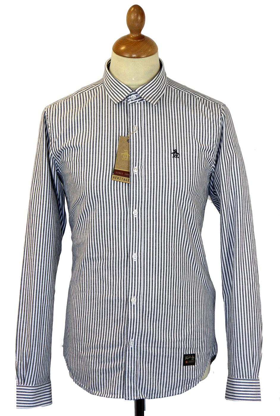 Candy Stripe ORIGINAL PENGUIN Retro Mod Shirt (DB)