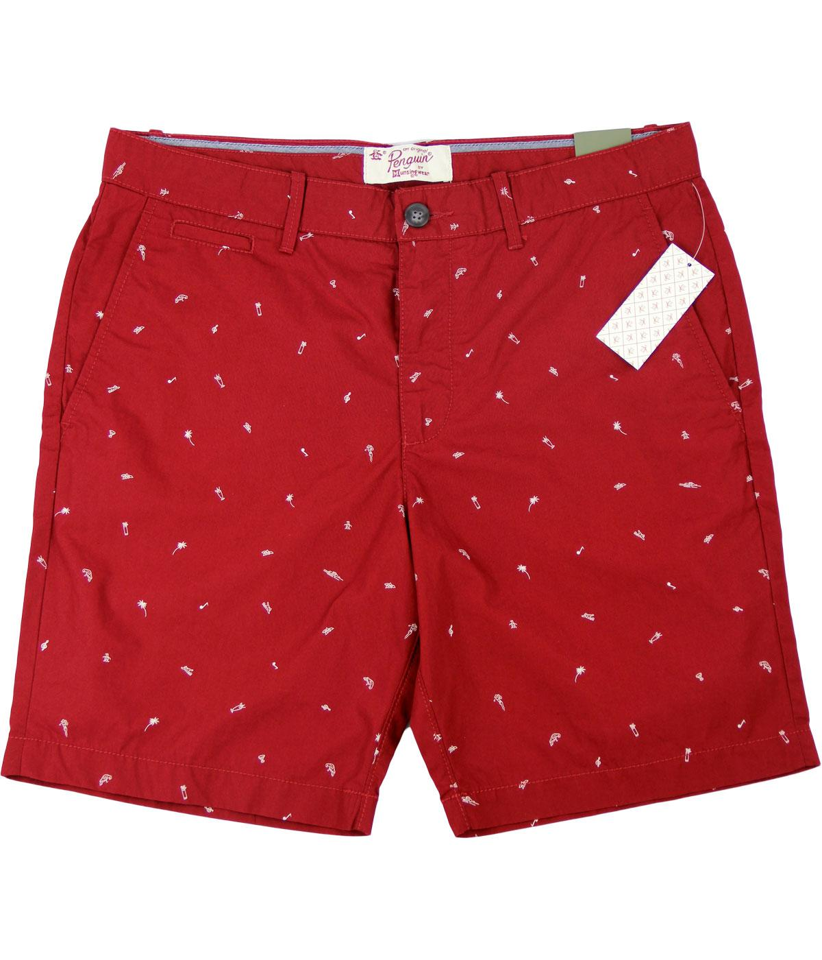 Budge ORIGINAL PENGUIN Retro Summer Print Shorts R
