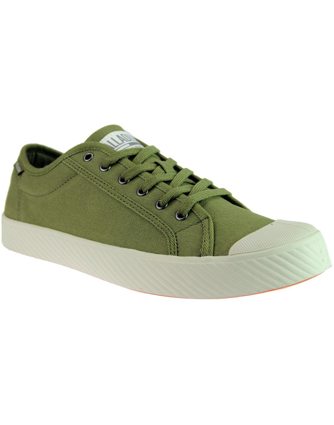 Pallaphoenix PALLADIUM Mens Canvas Trainers OLIVE