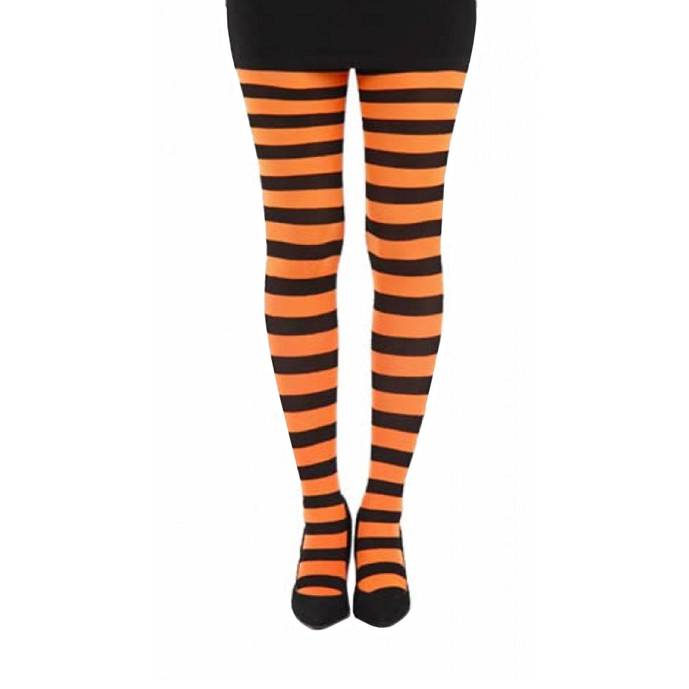 + Twickers PAMELA MANN Striped Tights ORANGE
