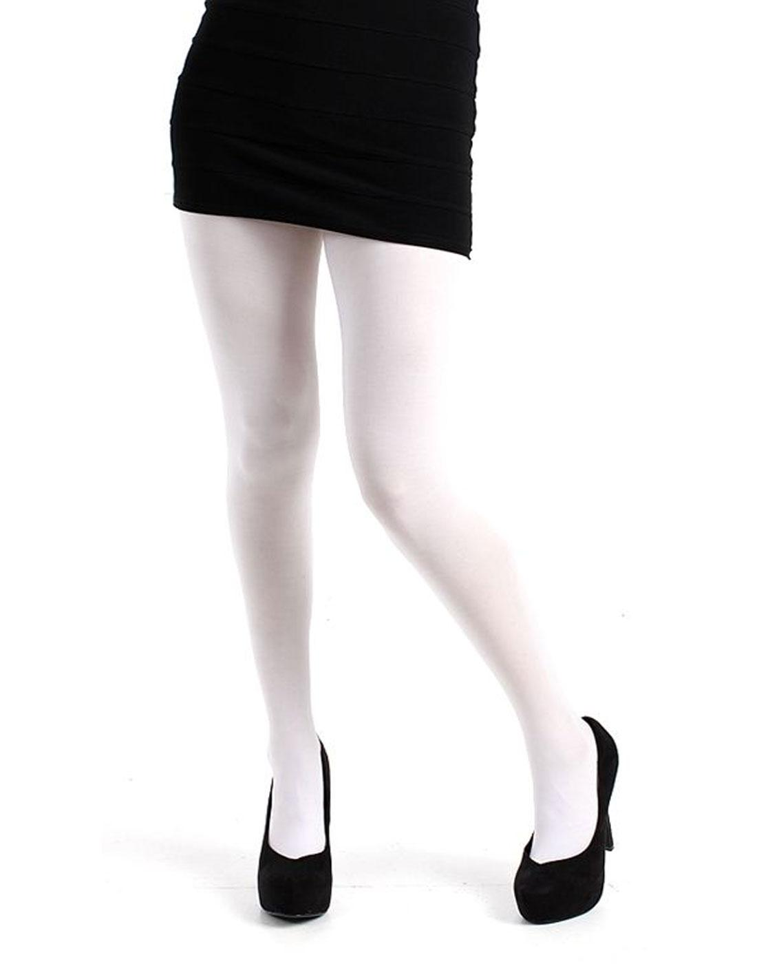 + PAMELA MANN 50 Denier Opaque Tights in White