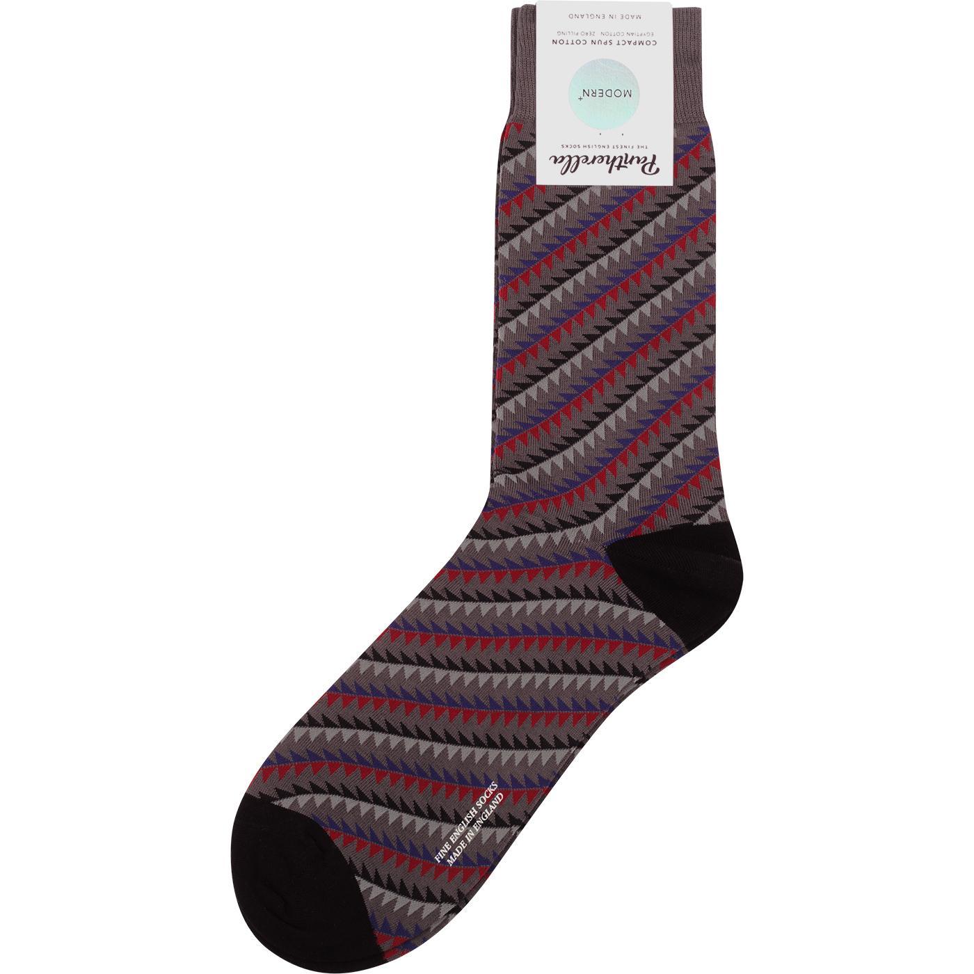 + Aicher PANTHERELLA Mod Geo Triangle Socks (Grey)