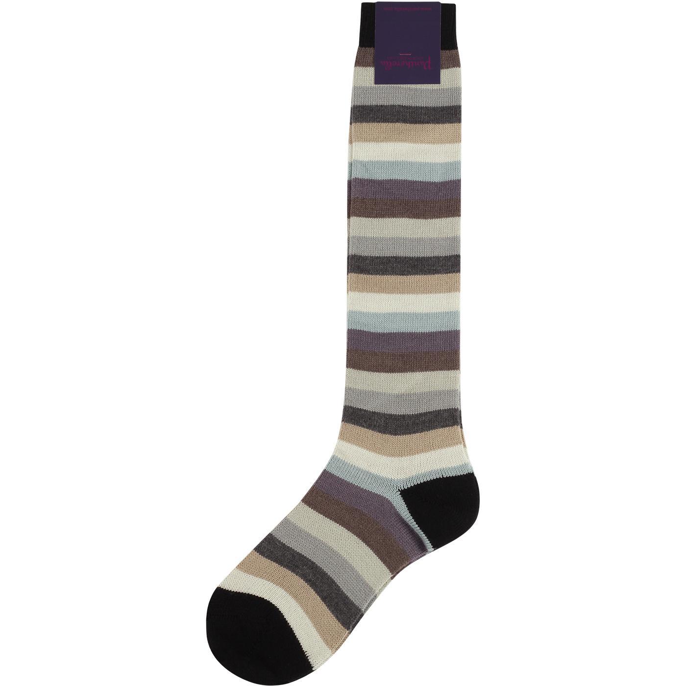 Sophia PANTHERELLA Retro 60s Stripe Socks (Black)