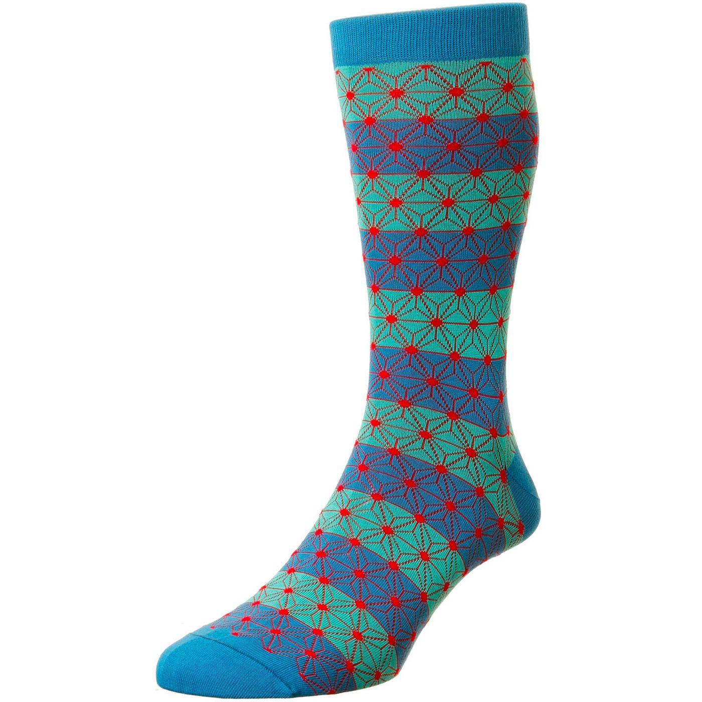 + Asanoha PANTHERELLA Kaleidoscope Spot Socks (PB)