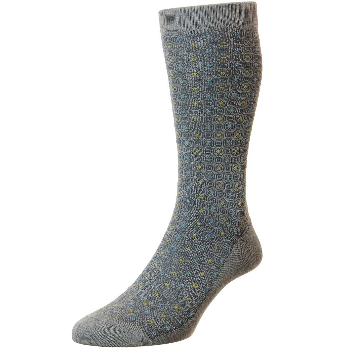 + Gilbert PANTHERELLA Mosaic Made in England Socks