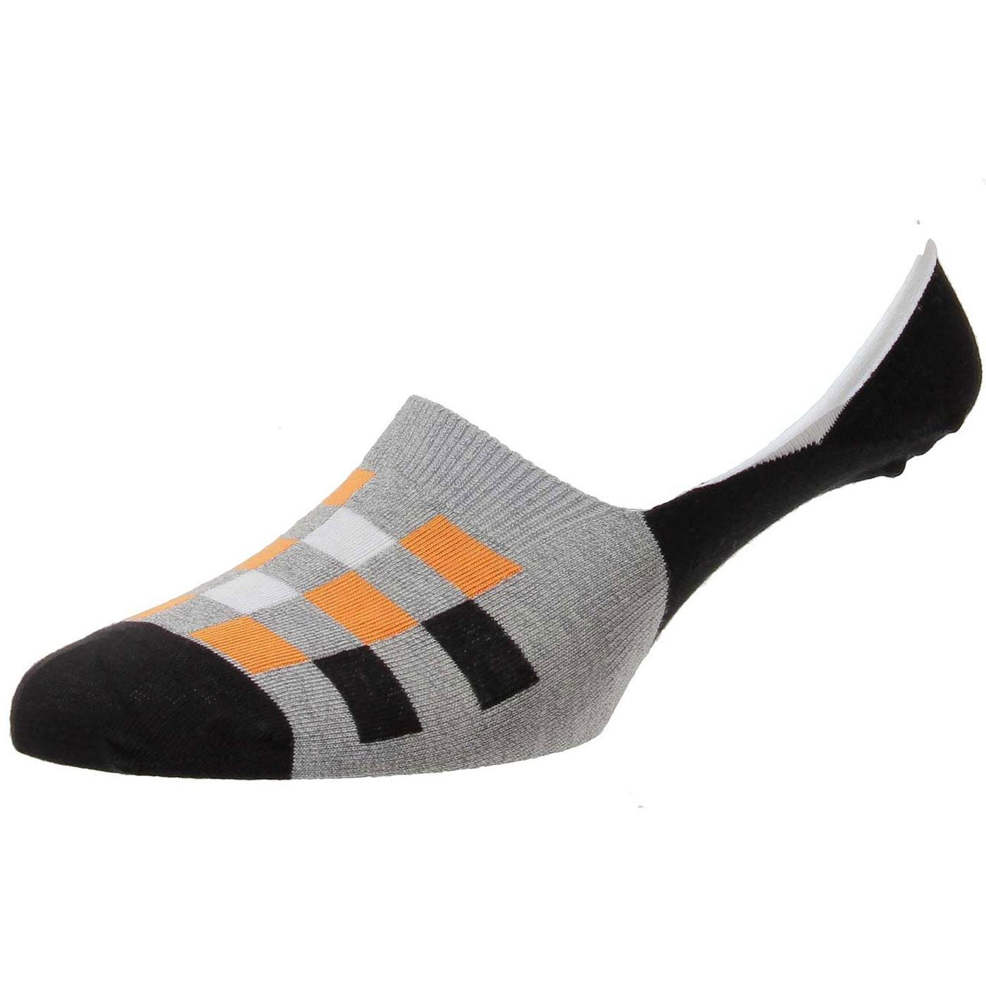 +Calero PANTHERELLA Chequerboard Invisible Socks B